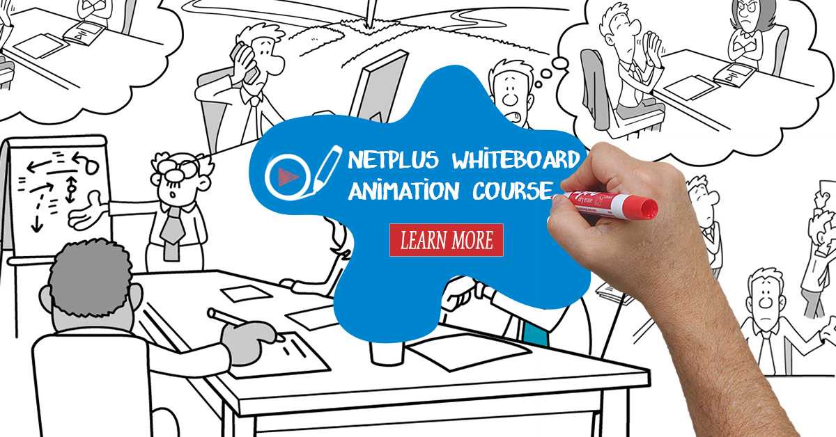 Netplus animation course ad banner
